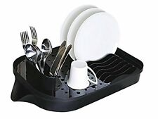 Extend Expandable Dish Rack  - Black  PLASTIC cutlery rack  drainer tray