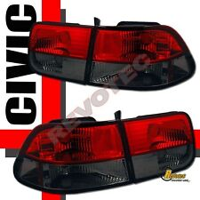 96 97 98 99 00 Honda Civic 2Dr Coupe HX DX EX Si Red Smoke Tail Lights 1 Pair