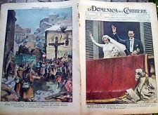 6) 1939 DOMENICA DEL CORRIERE NOZZE SAVOIA BORBONE E CATALOGNA LIBERATA