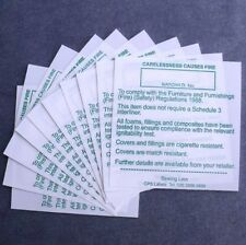 10. Upholstery / Furniture Sew On Fire Labels