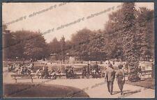 MILANO CITTÀ 242 GIARDINI PUBBLICI Cartolina viaggiata 1924