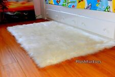 5 x 7 Faux Fur Rug Throw Area Rug Flokati Shaggy Rug Rectangle Sheepskin Throw