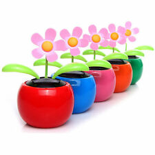 Home Car Flowerpot Solar Power Flip Flap Flower Plant Swing Auto Dance Toy