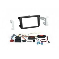 VW Golf 5, golf 6, kit de integracion doble DIN radio diafragma + CanBus volante adaptador