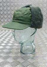 Genuine Swedish Army Green Cold Weather / Dog / Trapper Hat  57cm - NEW