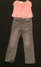 PREOWNED SEVEN, SZ 4T JEANS & /SHIRT VERY CUTE