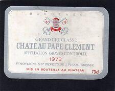 GRAVES GCC VIEILLE ETIQUETTE CHATEAU PAPE CLEMENT 1973 73 CL  RARE §11/10/16§