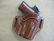 Kimber Micro .380 OWB Leather 2 Slot Molded Pancake Belt Holster CCW TAN RH