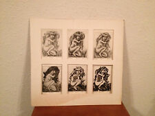 Vtg Mid Cent. 1968 Signed Woollard Prints of Nude Woman 6 Different Techniques