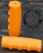 Orange Vintage Schwinn Bicycle Oval Rubber Grips Cruiser Bike Handlebar Phantom