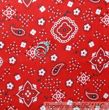 BonEful Fabric FQ Cotton Quilt Red B&W White Black Cow*Boy Girl Paisley L Flower