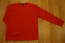 BANANA REPUBLIC Orange Cotton Heavyweight Pullover Shirt S Mens Crew Sweater