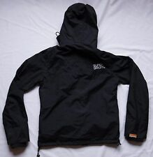 SuperDry Hard Shell Jacket Mens Long Sleeve Top Size S Small Double Black Label
