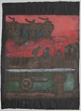 Listed Japanese Artist Kansei Hiroaka Woodblock 'Song of Sea' no 1