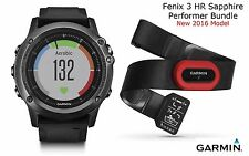 Garmin Fenix 3 HR Gray Sapphire Performer Bundle GPS Watch Wrist Heart Rate Run