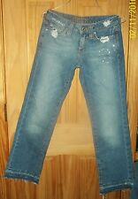 HIPPIE BRAND JUNIOR'S JEANS! 100% COTTON! SIZE 1 DESTRESSED DESIGN FACTORY TORN