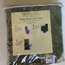 """Details from Strouds Dining Room Chair Cover Moss Green Crushed """"Velvet"""" Ties"""