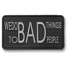 PATCH JTG 3D GOMME BAD THING PEOPLE ARMEE PAINTBALL AIRSOFT MILITAIRE INSIGNE