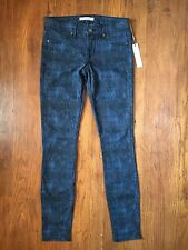 RICH & SKINNY Women's Size 26 Lace Print Marilyn Indigo Jeans