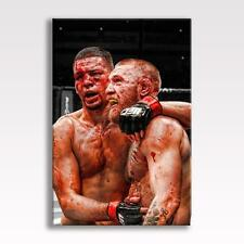 "CONOR MCGREGOR V NATE DIAZ CANVAS UFC 202 Poster Wall Art 30x20"" CANVAS"