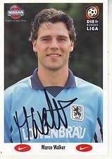 FOOTBALL carte joueur MARCO WALKER équipe TSV MUNCHEN 1860 signée
