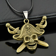 cool Pirates of the Caribbean Skull and Crossed Swords pendant Necklace XL529