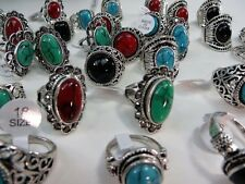 [US SELLER]  50 rings wholesale jewelry lot vintage turquoise stone fashion ring