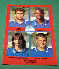 N°387 VALOUR TCHATO CHABERT VALENCE ASOA D2 PANINI FOOT 97 FOOTBALL 1996-1997