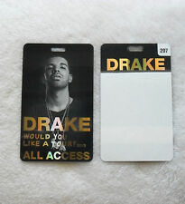 DRAKE OVO WOULD YOU LIKE A TOUR VIP PASS LAMINATE ALL ACCESS 2013 RARE