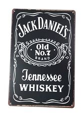 Tin Metal Wall Sign Plaque Vintage Retro Jack Daniels 20 x 30cm