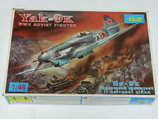 1/48 ICM YAK-9K WW2 Soviet Fighter Plane Scale Plastic Model Kit Complete