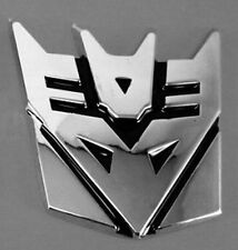 3D Logo Transformers Autobot Decepction Emblem Badge Graphics Decal Car Sticker