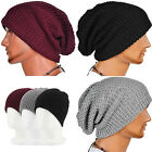 Men Slouch Skull Cap Oversize Long Beanie Women Baggy Cap Crochet Knit Ski Hat