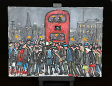 NORTHERN ARTIST JAMES DOWNIE ORIGINAL OIL PAINTING 'THE 101 BUS'
