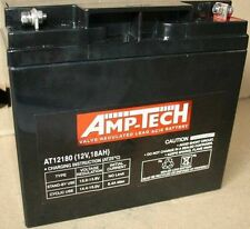 AMP-TECH DEEP CYCLE AGM BATTERY - 12V / 18 AH for Golf Buggy - Golf Battery AGM