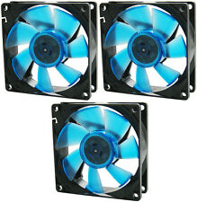 3 x GELID Solutions Wing 8 UV Blue 80mm Ultraviolet Reactive Quiet Case Fans