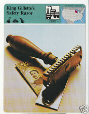 KING GILLETTE'S SAFETY RAZOR Photo Invention History Story of America CARD