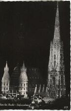 Alte Postkarte - Wien bei Nacht - Stephansdom