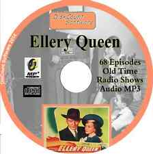 Ellery Queen - 68 episodes Old Time Radio Shows -   MP3 CD