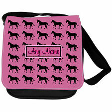 Personnalisé cheval chevaux print kids bandoul école sac à main / / sac de jeu