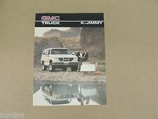 1986 GMC K Jimmy Full Size K1500 Sierra Classic sales brochure dealer catalog