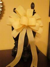 "10"" Wide Soft Solid Yellow Bow Decoration~Easter Baskets~Wreaths~Door~Gifts"