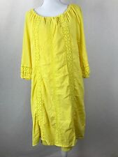 Lane Bryant Women's Yellow Lace Lined Dress Size 14 / 16