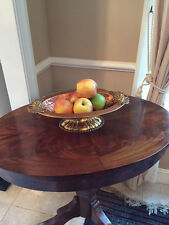 Vintage Handmade Copper Oval Fruit Bowl from India