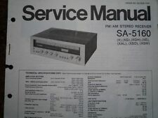 TECHNICS SA-5160 Stereo amplifier receiver Service manual wiring parts diagram