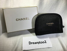 CHANEL See Through Cosmetic Makeup Travel  Bag case