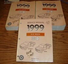 1999 Chevrolet Silverado GMC C/K Truck Shop Service Manual Vol 1 2 3 Set 99