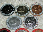 COMPLETE set of FIVE geocoins! Apollo 11, Armstrong, Moon, 2009, Ultra Rare!