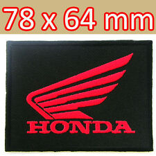 HONDA Wing Racing Advertising Embroidered Iron on Patch Motorcycle Biker MotoGP