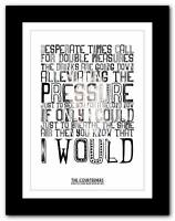 ❤ THE COURTEENERS Scratch Your Name Upon My ❤  art poster print - A1 A2 A3 or A4